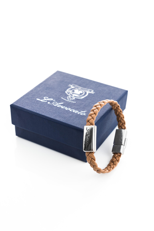 """Vowen men\\'s leather bracelet """"Eddy"""" brown- L'Avvocato"""