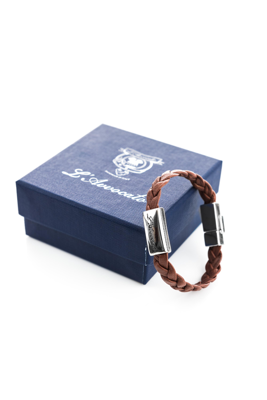 "Vowen men\\'s leather bracelet ""Eddy"" dark brown- L'Avvocato"