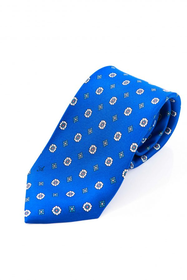 Cravatta Sette Pieghe Marella Blu di Persia