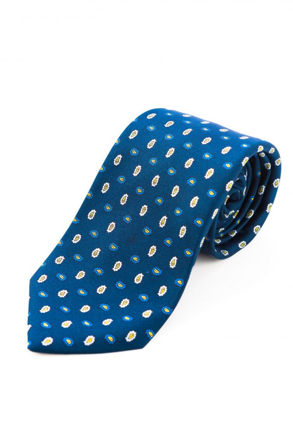 Cravatta Sette Pieghe Marella Blu di Prussia