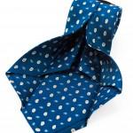 Cravatta Sette Pieghe Marella Blu di Prussia- dettaglio lavorazione artigianale