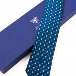Cravatta Sette Pieghe Marella Blu di Prussia e confezione