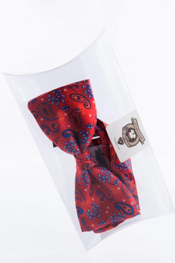 Papillon Tassilo Rosso Traffico nella sua confezione